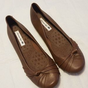 American eagle by payless brown dress flats
